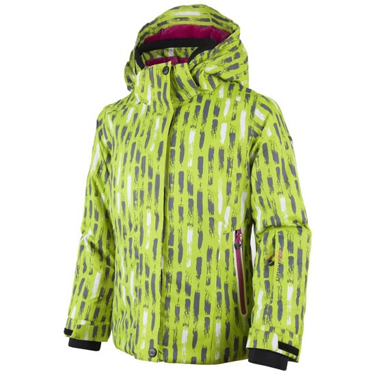 Campagnolo Snaps Hood Jacket Girl - Acido/Graffite